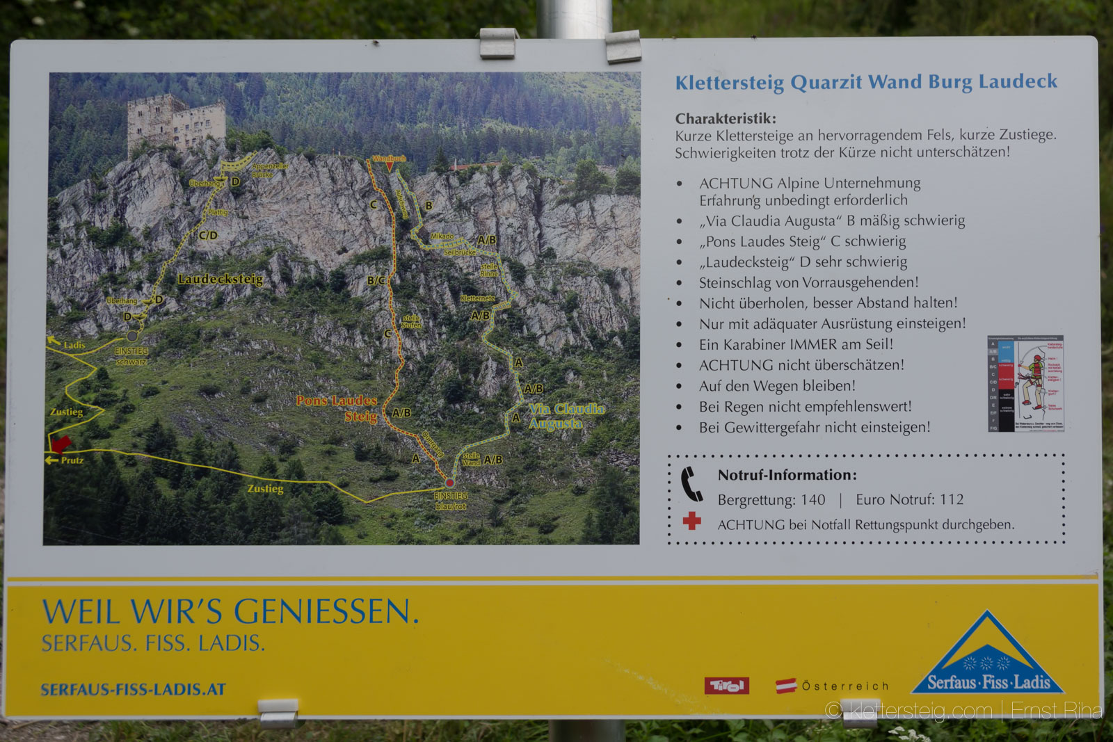 Klettersteig Quarzit Wand : Klettersteig quarzit wand beschreibung klettersteige ladis
