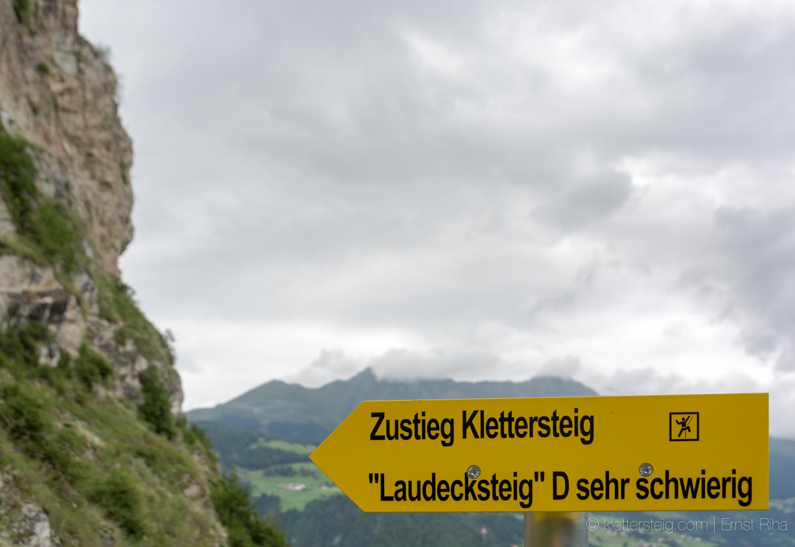 Klettersteig Quarzit Wand Burg Laudeck : Juli prutz ladis runde klettersteige