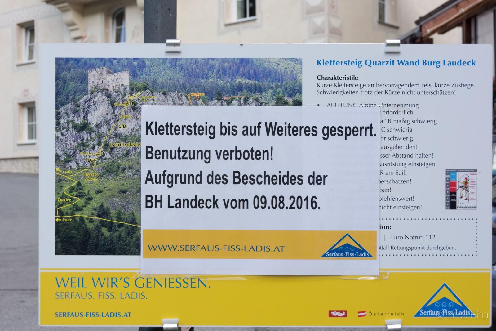 Klettersteig Quarzit Wand : Beschreibung klettersteige ladis